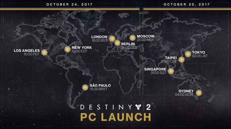 Destiny 2, Unlock Time