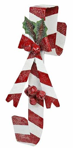 christmas candy cane decorations, wreath hangers, candy cane wreath hanger