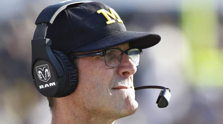 jim harbaugh, highest paid college football coaches, salary, contracts