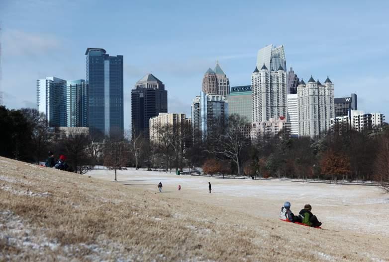 Atlanta, snow
