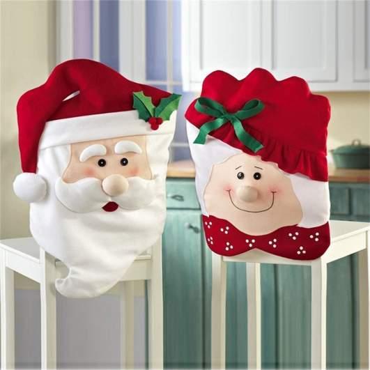 christmas chair cover, santa claus chair cover