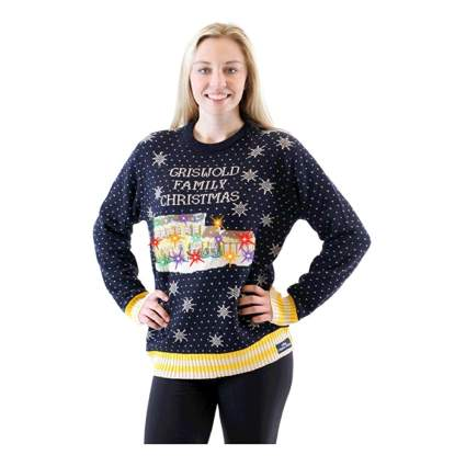 griswold family christmas house light up sweater