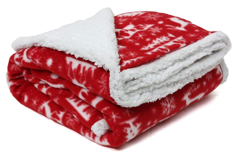christmas blankets, sherpa blankets, christmas throws