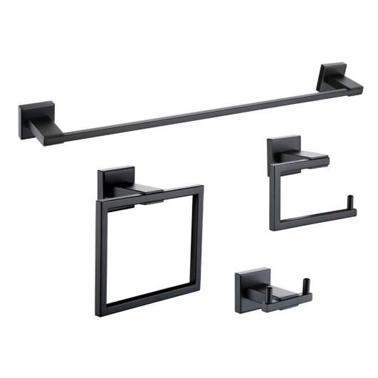 black bathroom accessories, black bathroom hardware
