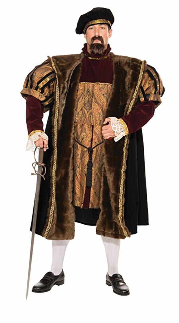 renaissance costume, medieval costume, king