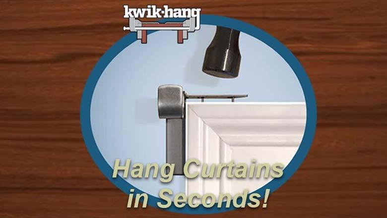 quick hang, kwik hang, shark tank curtain rods