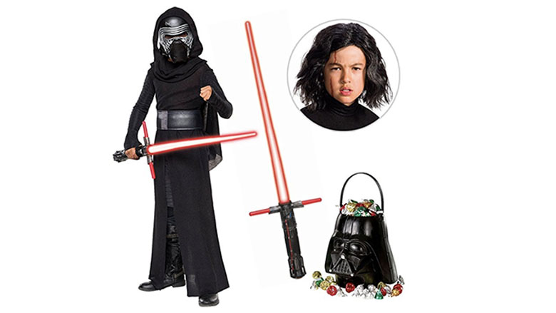 Kylo Ren The Last Jedi Deluxe Child Costume with Wig and Lightsaber birthday express