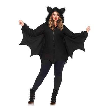 plus size black bat costume