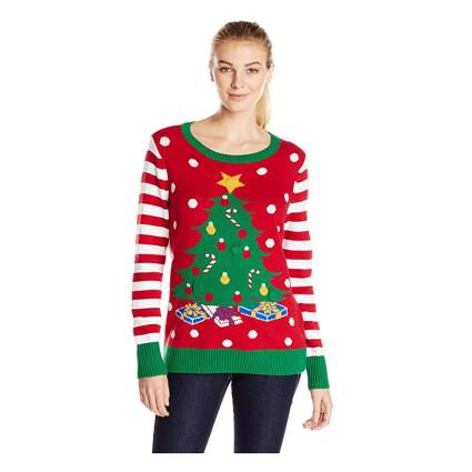 light up christmas tree sweater