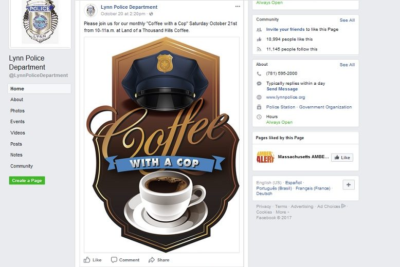 Kato Mele, Turtleboy Sports, Sophie CK, White Rose Coffeehouse, Blue Lives Matter, Coffee With A Cop, Lynn, Massachusetts