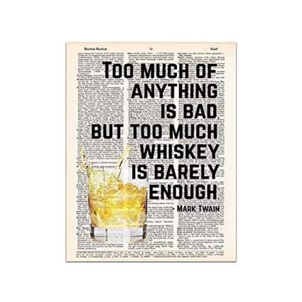 mark twain whisky print