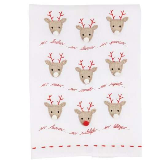 christmas hand towels, reindeer hand towels