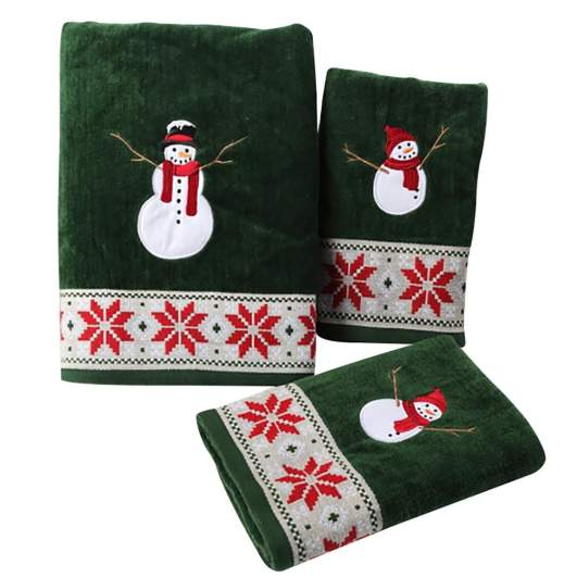 christmas hand towels, green hand towels