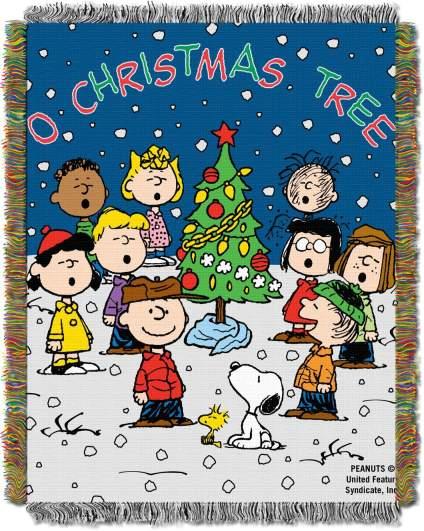 christmas blankets, charlie brown blanket