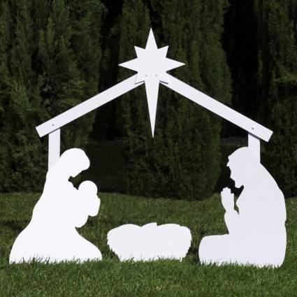 christmas nativity set, outdoor nativity set