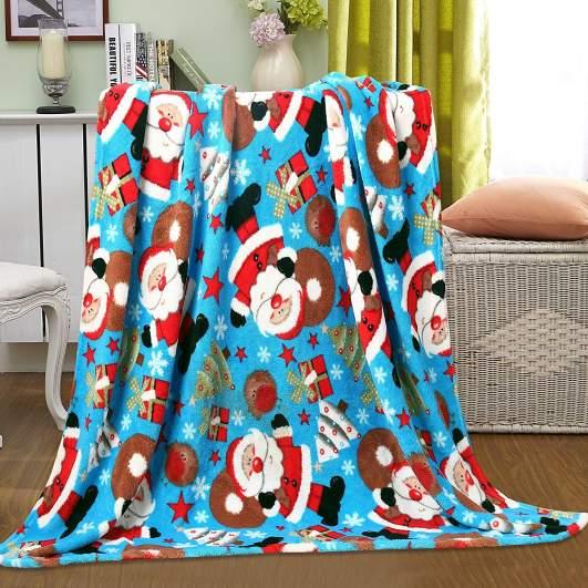 christmas blankets, christmas throws, santa blanket