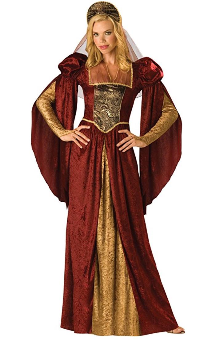 renaissance costume, medieval costume, queen costume