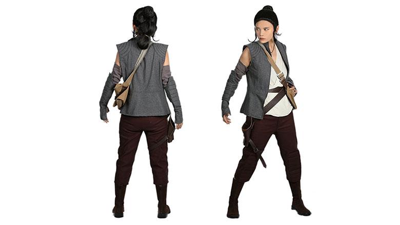 Rey The Last Deluxe Jedi Cosplay Suit xcoser