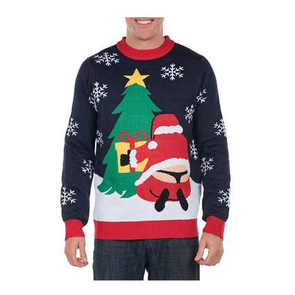 santa in a thong ugly christmas sweater
