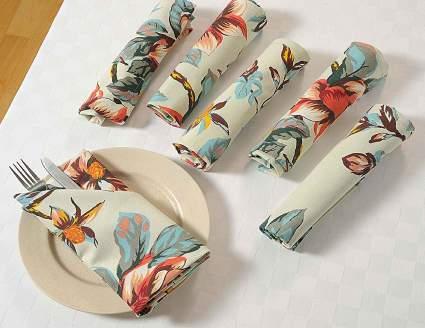 linen napkins, floral napkins, cloth napkins, dinner napkins