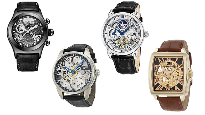 skeleton watches for men