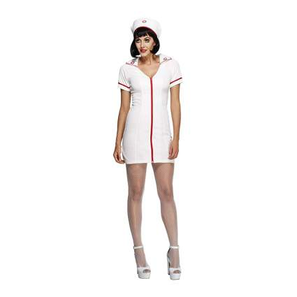 white mini dress nurse costume