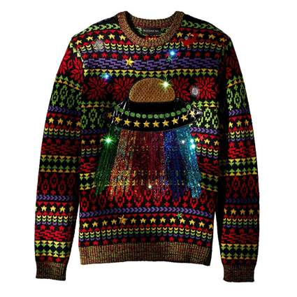 ufo light up christmas sweater