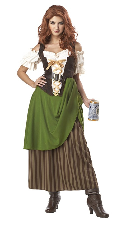 renaissance costume, medieval costume, bar wench