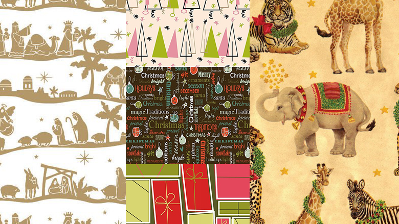 unique christmas wrapping paper