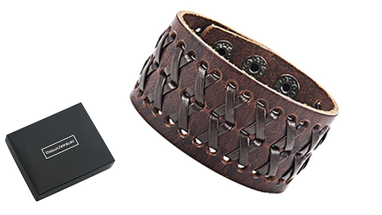 Star Jewelry Stunning Brown Gipsy Style Cuff Leather Bracelet Wristband Bangle Black Brown