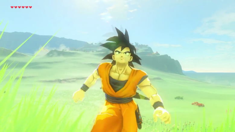 breath of the wild mods, breath of the wild goku, breath of the wild mod download
