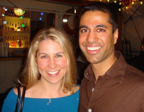 Ajit Pai with nice, Wife Janine Van Lancker