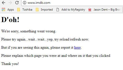 imdb down, imdb down november 8 2017
