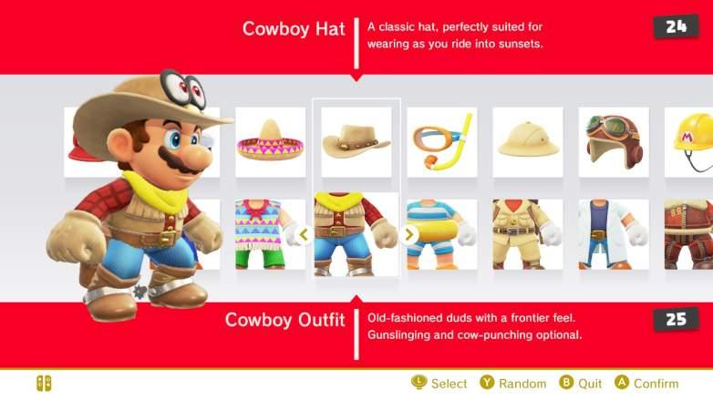 super mario odyssey cowboy