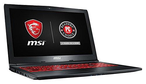 "MSI GL62M 7REX-1896US 15.6"" Full HD Thin and Light Gaming Laptop Computer Quad Core i7-7700HQ, GeForce GTX 1050Ti 4G Graphics, 8GB DRAM, 128GB SSD + 1TB Hard Drive, Steelseries Red Backlit Keyboard"