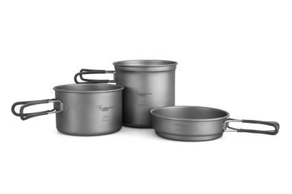 HealthPro Titanium Lightweight 3-Piece Camping Hiking Mess Kit Cookware Set