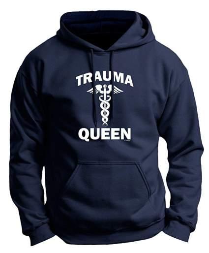Trauma Nurse Gifts Trauma Queen Emergency ER Nurse Premium Hoodie Sweatshirt