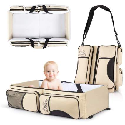 Koalaty 3-in-1 Universal Baby Travel Bag: Portable Bassinet Crib, Changing Station, and Diaper Bag