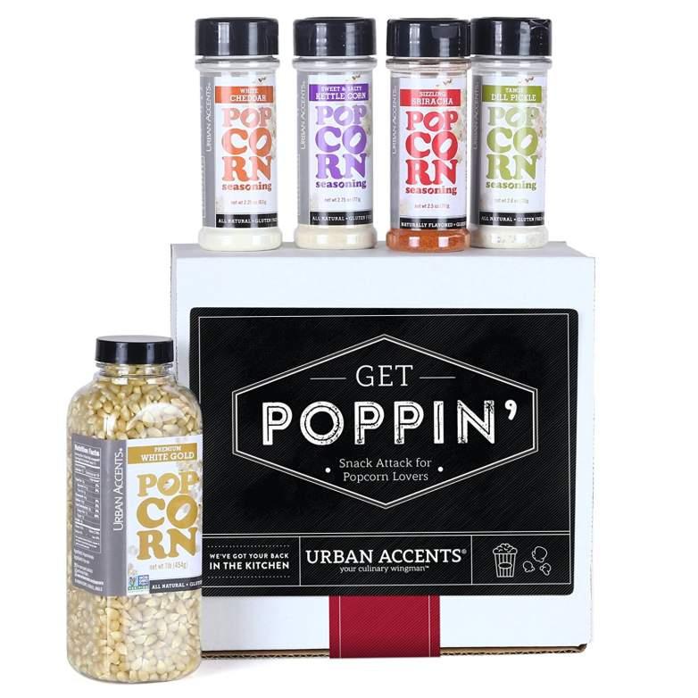 popcorn gifts, gourmet popcorn, popcorn tins, christmas popcorn, popcorn gift baskets