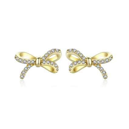crystal studded bow earrings