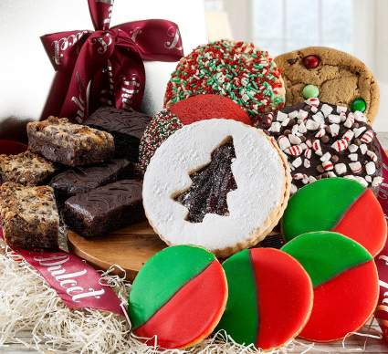 Cookie gift baskets, cookie basket, cookie delivery, christmas cookies, holiday cookies, christmas food gifts