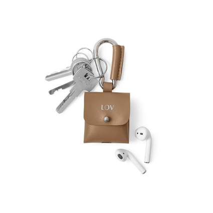Alel Personalized Leather Keychain and AirPods Case