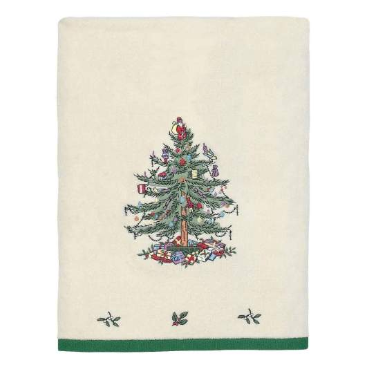 christmas bathroom towel, spode bath towel