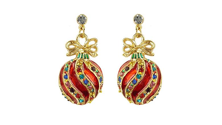 christmas earrings, christmas jewelry, earrings, dangle earrings, stud earrings, crystal earrings