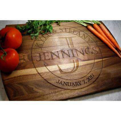 Blue Ridge Mountain Gifts Personalized Cutting Board
