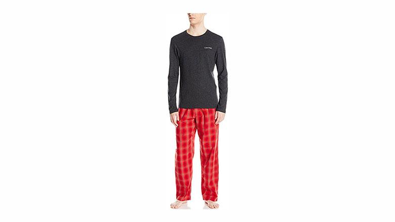 mens christmas pajamas, mens christmas pjs, mens christmas pyjamas, men's pajamas, calvin klein