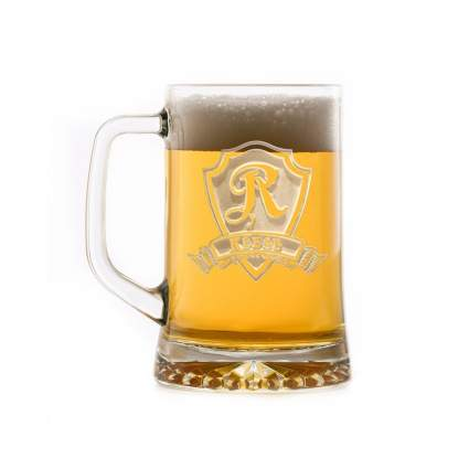 Crystal Imagery Personalized Monogram Beer Mug