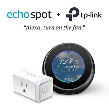 Echo Spot - Black with TP-Link Smart Plug Mini