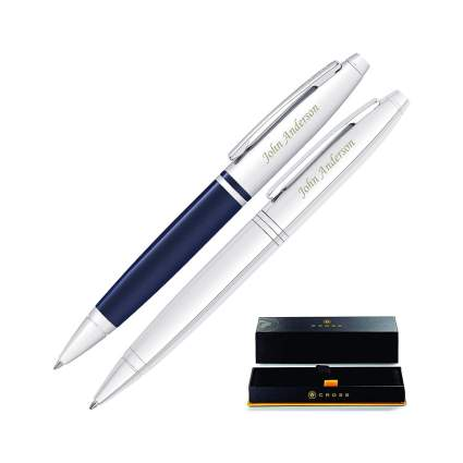Cross Calais Engraved Pen Set