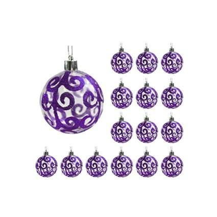 purple swirl transparent shatterproof ornaments